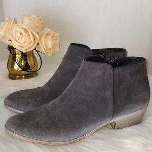 Sam Edelmann Leather Suede Gray bootie